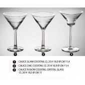 CALICE FUSION COCKTAIL CRYSTAL GLASS CL 20 H 18,3 Ø CM 11 Generico